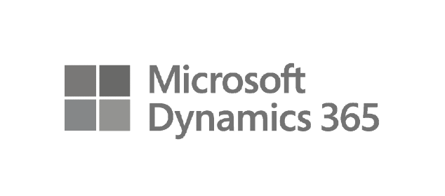 Logos for Microsoft Dynamics 365 and Microsoft Dynamics GP, formerly Microsoft Great Plains, which can both integrate with Core Commissions.