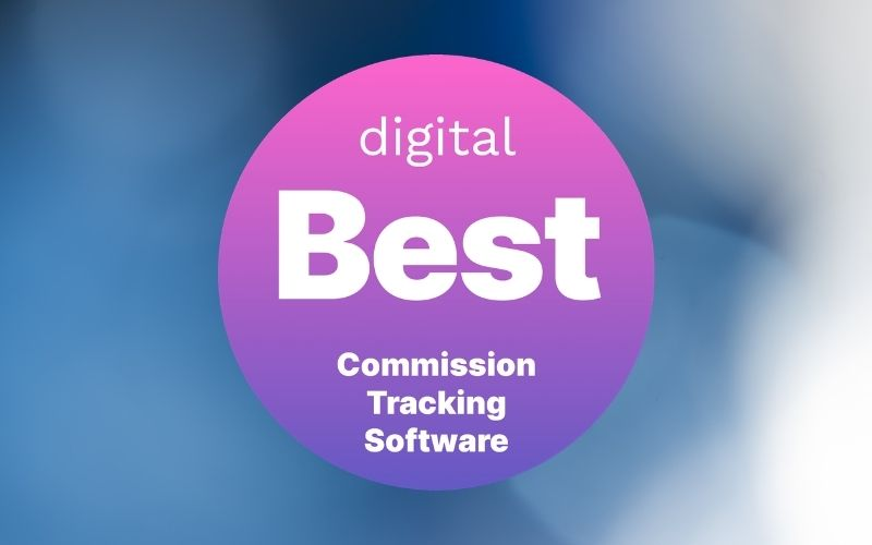 The Digital Best Commission Tracking Software badge, earned by Core Commissions.