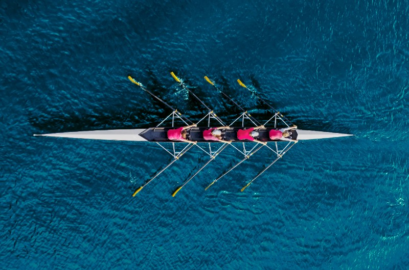 A crew team rows together the same was Core Commissions well-trained administrators handle your commissions.